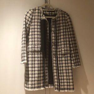 Zara Black and White long jacket